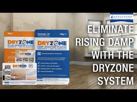 Eliminate Rising Damp with the Dryrod & Dryzone Damp Resistant Plaster - The Dryzone System