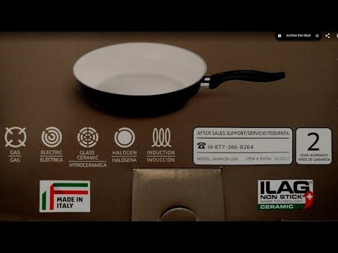 Crofton Ceramic Frying Pan Review Sold By Aldi Youtube