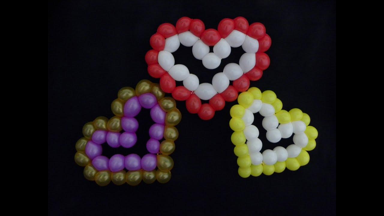 Corazones con globos youtube - Como hacer figuras con globos ...