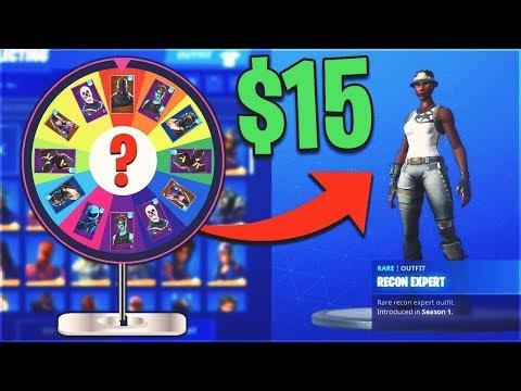 Wheel Of Fortune Decides The RARE Fortnite Accounts I BUY...