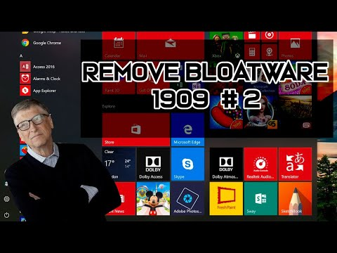 Remove Windows Bloatware 1909 - Win A-Z Pt7