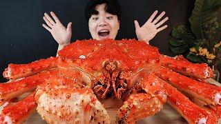 ASMR MUKBANG 대왕 킹크랩 4KG 해물찜 먹방 SEAFOOD STEAMED GIANT KING CRAB EATING SHOW Hải sản