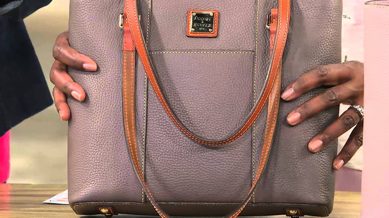 8df0bf52dcdd Dooney   Bourke Pebble Leather Small Lexington Shopper with Jayne Brown