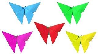 Оригами Бабочка Для Детей. Как Сделать Бабочку. Поделки Из Бумаги для Детей