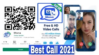 Mona Free video calls audio call Message install Play Store Talk your loved 24 hoursToday Update screenshot 5