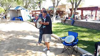 NM Sate Fair - Indian Village - Orlando Cruz sharing his song