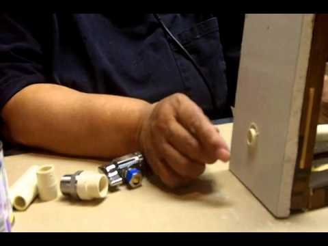 Attaching a Water Supply Valve to Plastic CPVC Pipe