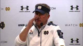 Coach Kelly Post Game Press Conference - North Carolina