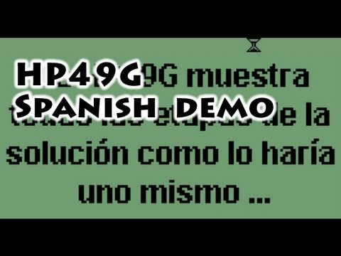HP calculators: HP49G Spanish Demo - Gaak