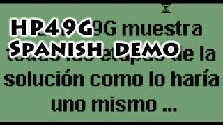 HP calculators: HP49G Spanish Demo - Gaak
