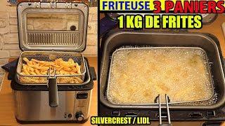FRITEUSE 3 PANIERS LIDL SILVERCREST 2000W Deep Fryer Fritteuse Friggitrice