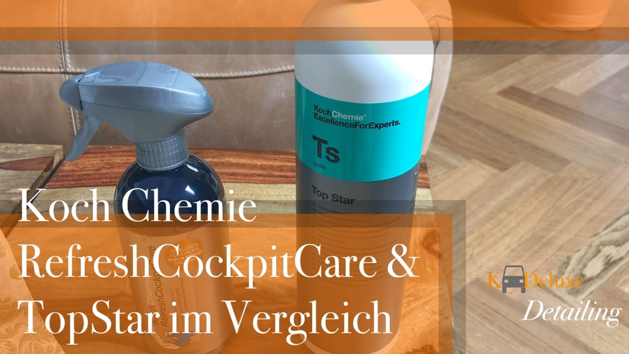 koch chemie refresh cockpit care top star vergleich. Black Bedroom Furniture Sets. Home Design Ideas