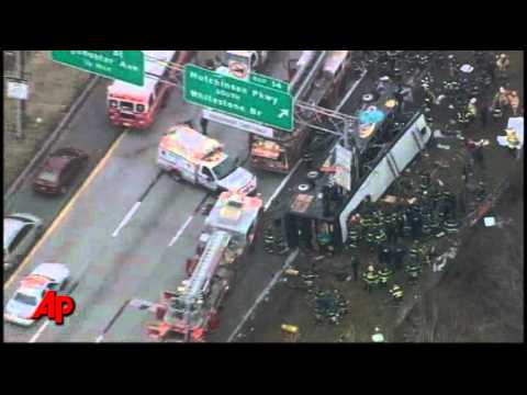 At Least 13 Killed in NYC Tour Bus Crash