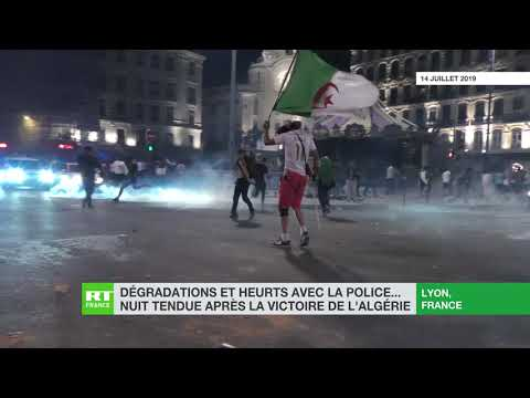 Dégradations et heurts avec la police... Nuit tendue après la victoire de l'Algérie