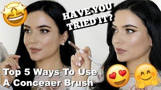 5 Ways To Use a Concealer Brush?! YOU HAVE TO TRY!