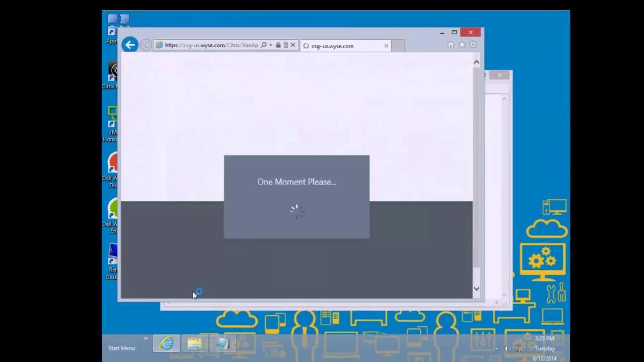 Dell Wyse D90Q8 WES8 Internet Explorer Kiosk Citrix Shell (No Audio)