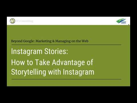 Instagram Stories | Google and Beyond Webinar Archives