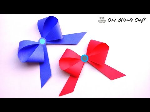How to Make Simple Easy Bow, DIY, Ribbon Hair Bow, Tutorial