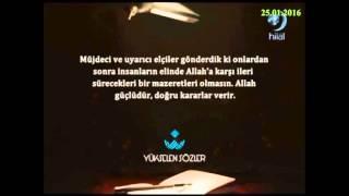 25-01-2016 Nisa Suresi 165. ve 166. Ayetleri Meali - Yükselen Sözler – Hilal TV