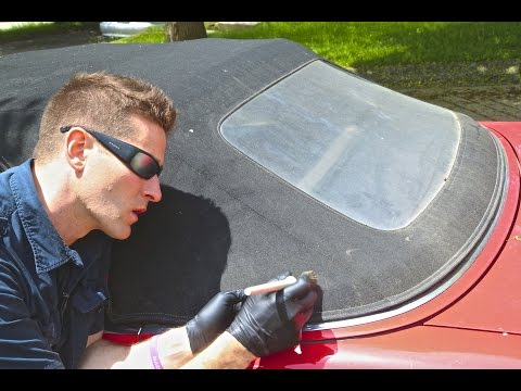 "How to Clean Convertible Top & Restore ""Yellow"" Window"""