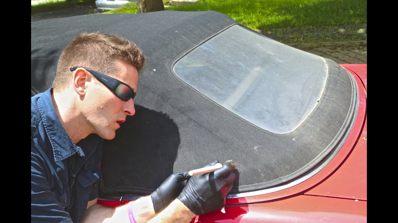 How To Clean Convertible Top Re Yellow Window