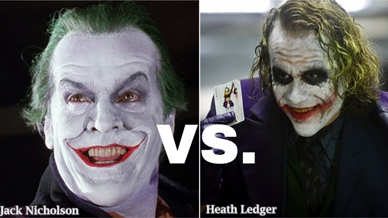 Heath Ledger VS Jack Nicholson - Joker Laughs [HD]