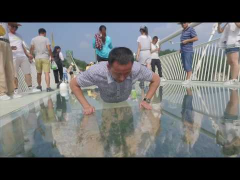 The longest and highest glass bridge opened to public, you can't imagine how fun it is