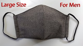 Large Size Face Mask for Men How to Make a Men s Face Mask with Filter Sewing Tutorial Mascarilla