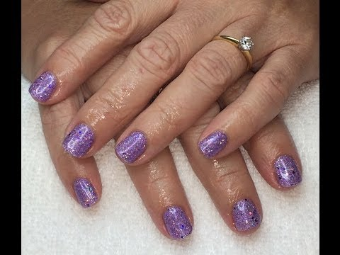 Rockstar Nails with ibd Just Gel Polish with glitter