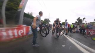 Stage 5 Tour de France 2015 video from onboard cameras(The real cycling as it is... rain, crashes, mechanics work, team spirit and massive sprint... all in onboard camera video from stage 5 the Tour de France ..., 2015-07-08T19:52:29.000Z)
