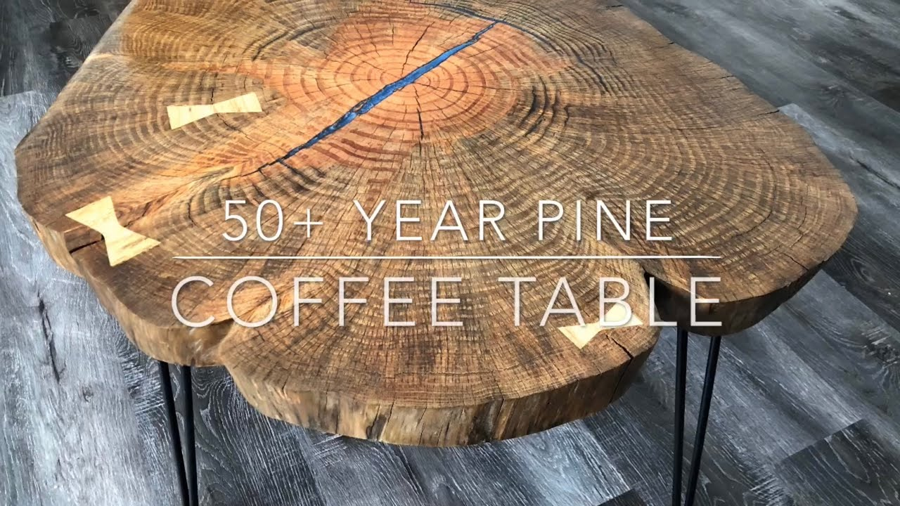 50 Year Old Growth Pine Cookie Coffee Table Live Edge