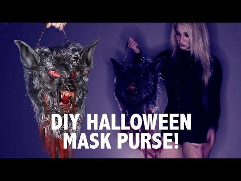 DIY: Halloween Costume Wolf Mask Purse Easy & Fun!