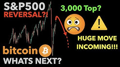 MARKETS ABOUT TO REVERSE DOWN?! | Bitcoin & S&P500