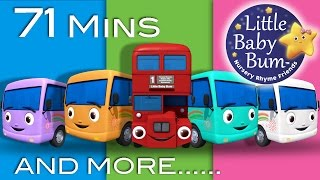 Ten Little Buses | And More Nursery Rhymes | From LittleBabyBum
