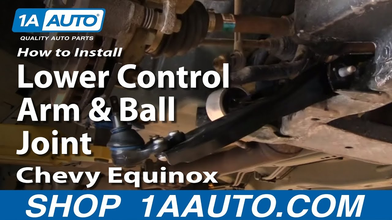small resolution of how to replace lower control arm and ball joint 05 09 chevy equinox