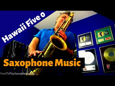 Hawaii Five-O Saxophone Music & Backing Track Download