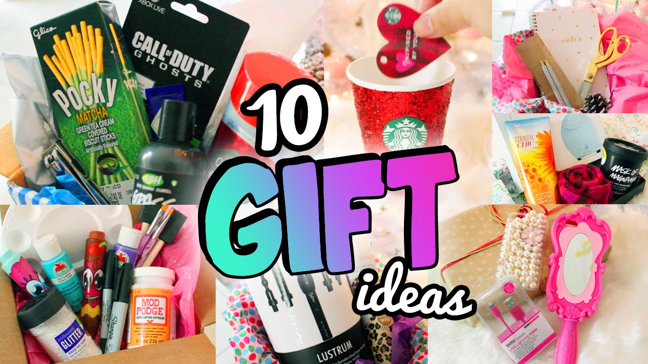 10 HOLIDAY GIFT IDEAS Friends Boyfriends More