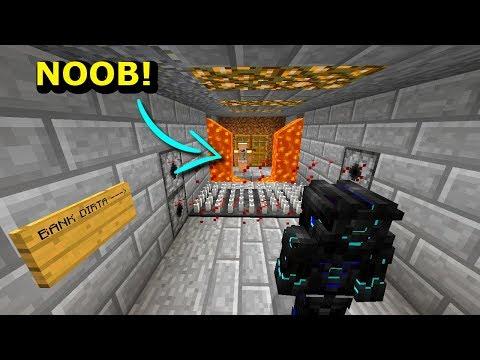 Minecraft NOOB VS PRO- NAPAD NA BANK NOOBA W MINECRAFT!