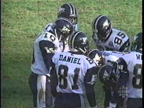 CFL 1995 PLAYOFFS WINNIEG BLUEBOMBERS AT BALTIMORE STALLIONS