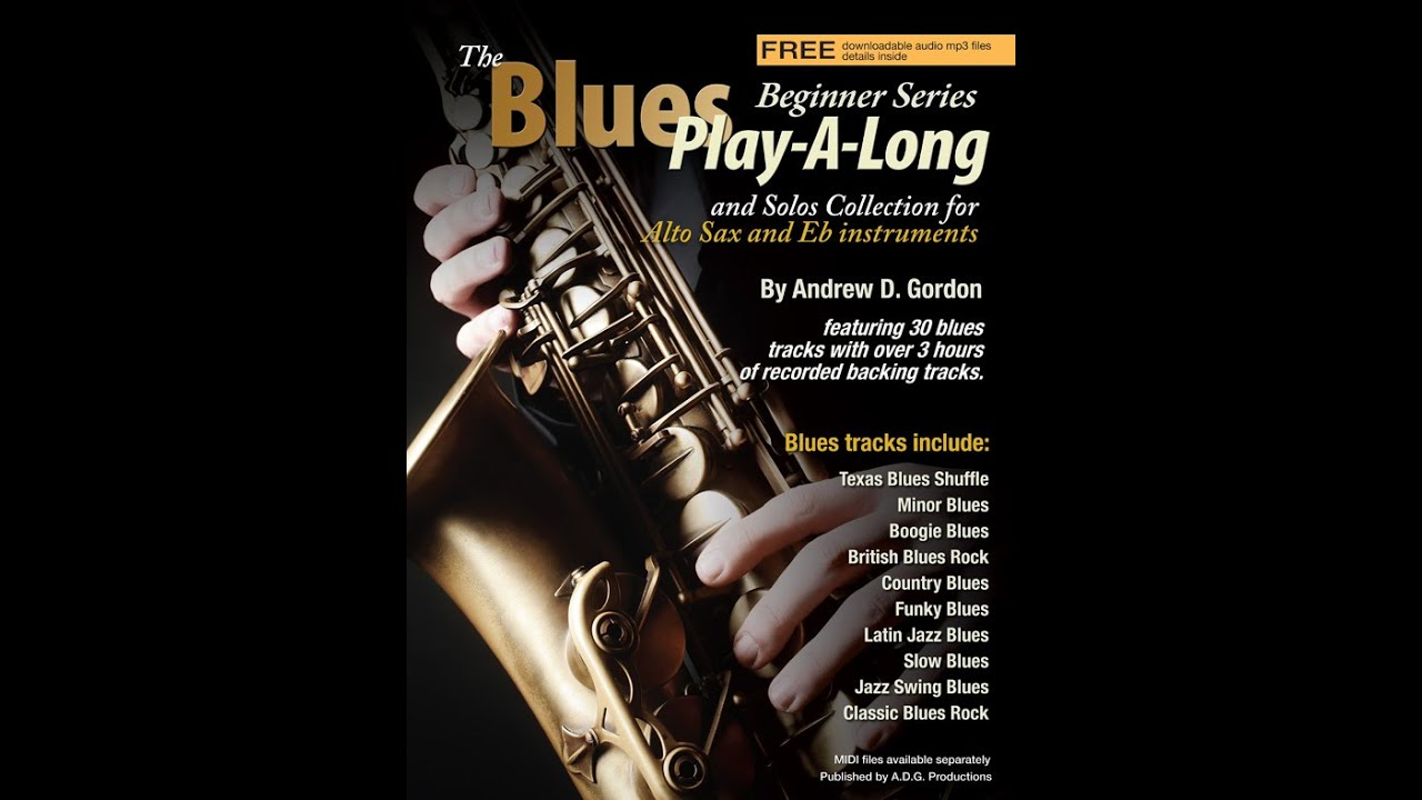The Blues Play-A-Long and Solos Collection beginner series for Eb