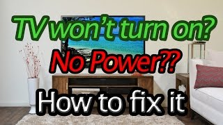 TV won't power on? How to replace the power supply circuit board