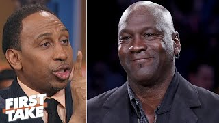 Michael Jordan didn't diss Steph Curry with HOF comments - Stephen A. | First Take
