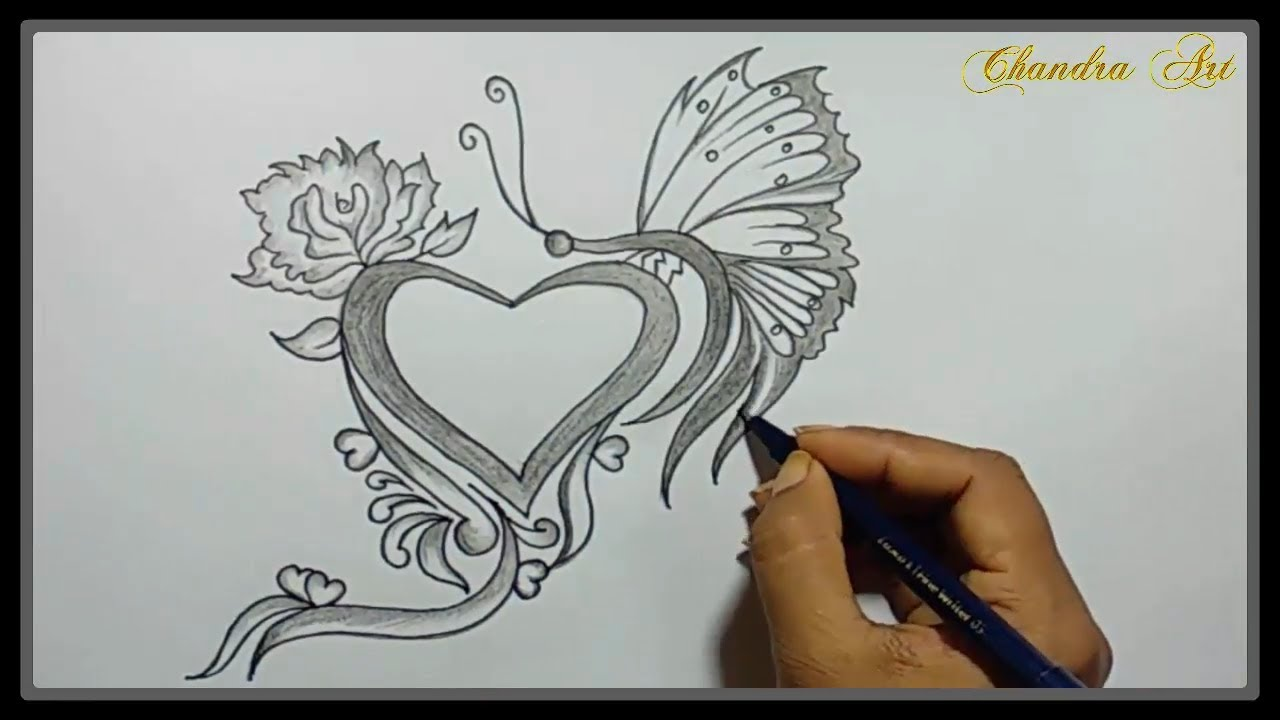 Hand Holding Flower Drawing Simple