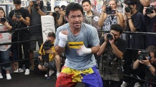 MANNY PACQUIAO'S SPEED IS INSANE AT 40! LETS HANDS FLY FOR REALS IN TRAINING FOR KEITH THURMAN