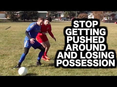 How to shield a soccer ball ► How to protect the ball in football