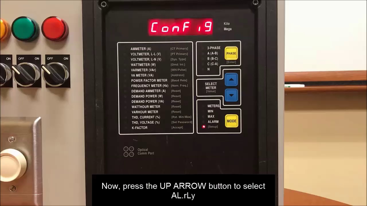 Configuring Alarms Relays On Powerlogic Cm2000 Via Front Panel New Schneider Electric Zelior Solidstate Support