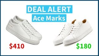 Handmade Minimal Leather Sneakers for Under $200 | Ace Marks Kickstarter Campaign