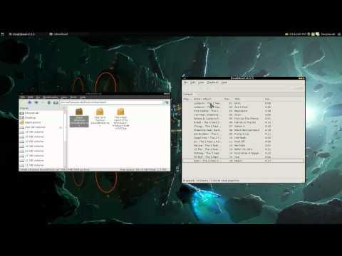 Deadbeef - Play Rar 7z Gzip Music - Linux XFCE