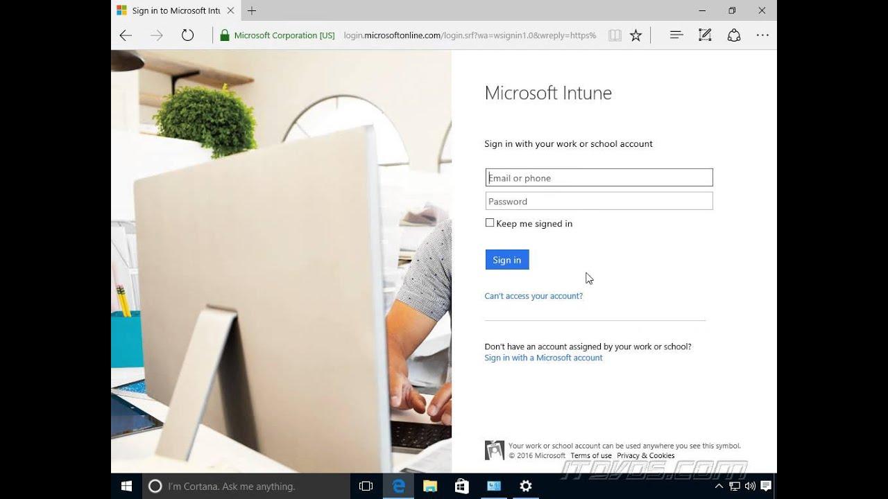Exam 70-697 Enroll a Windows 10 Device into Microsoft Intune as a User