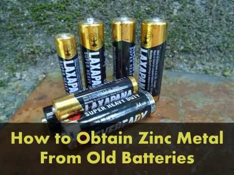How to obtain Zinc Metal from old batteries